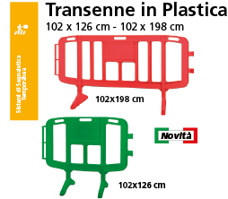 Famiglia Transenne in Plastica